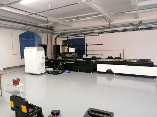 Instalace laserové řezačky GWEIKE