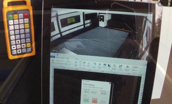 Ovládání a kamera CNC laseru